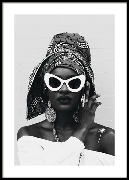 White Sunglasses Poster in the group Posters & Prints / Fashion at Desenio AB (11143)