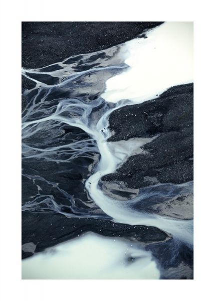 Abstract Glacier Poster in the group Posters & Prints / Nature at Desenio AB (11154)