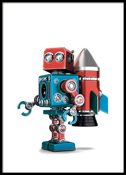 Vintage Robot Poster in the group Posters & Prints / Kids posters at Desenio AB (11162)