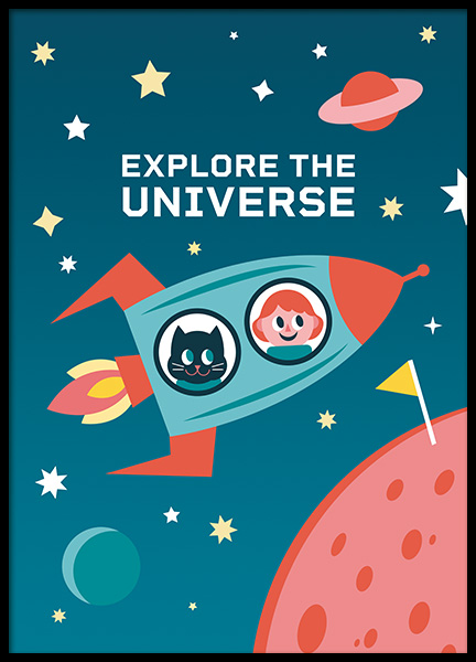 Explore the Universe Poster in the group Posters & Prints / Kids posters at Desenio AB (11165)