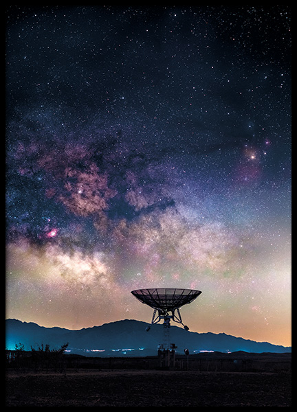 Radio Telescope Poster in the group Posters & Prints / Nature at Desenio AB (11168)