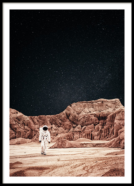 Walking on Mars Poster in the group Posters & Prints / Nature at Desenio AB (11170)
