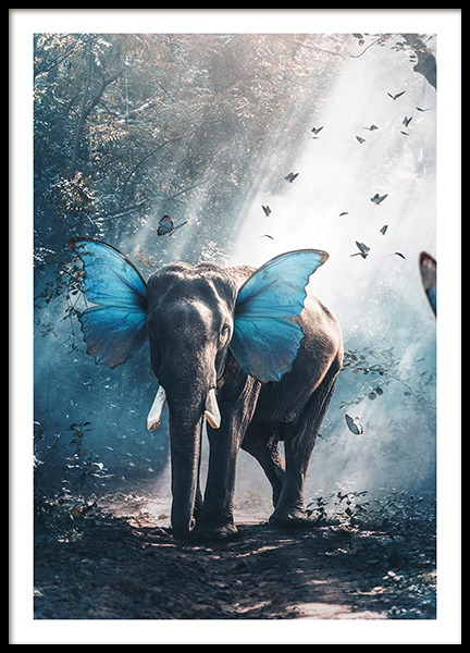 Butterphant Poster in the group Posters & Prints / Kids posters at Desenio AB (11204)