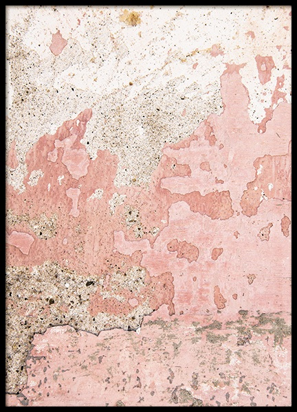 Old Pink Wall Poster in the group Posters & Prints / Art prints / Abstract art at Desenio AB (11243)