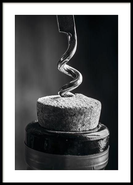 Corkscrew Poster in the group Posters & Prints / Black & white at Desenio AB (11275)