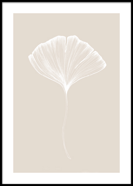 Ginkgo Beige No2 Poster in the group Posters & Prints / Botanical at Desenio AB (11284)