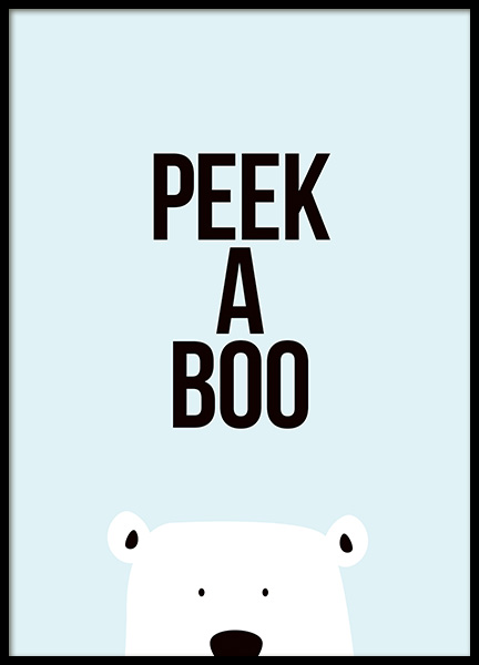 Peek a Boo Poster in the group Posters & Prints / Kids posters at Desenio AB (11287)