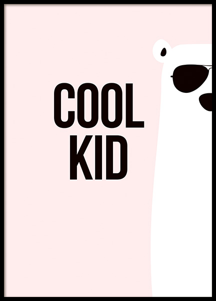 Cool Kid Poster in the group Posters & Prints / Kids posters at Desenio AB (11288)