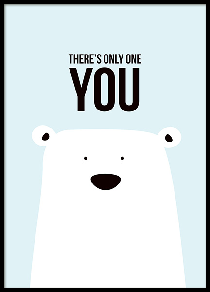 There's Only One You Poster in the group Posters & Prints / Kids posters at Desenio AB (11289)