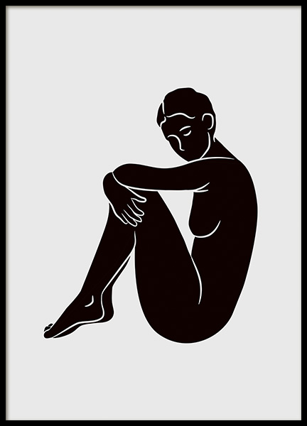 Graphic Woman Poster in the group Posters & Prints / Illustrations at Desenio AB (11298)
