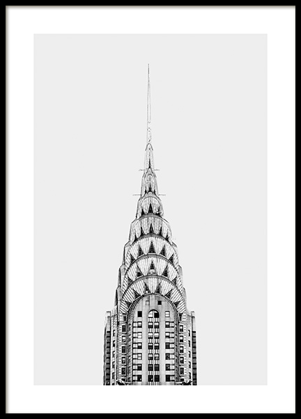 Chrysler Building Poster in the group Studio Collections / Studio Cosmopolitan / New York at Desenio AB (11306)