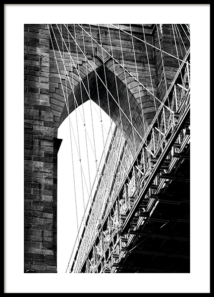 Brooklyn Bridge Detail Poster in the group Studio Collections / Studio Cosmopolitan / New York at Desenio AB (11309)