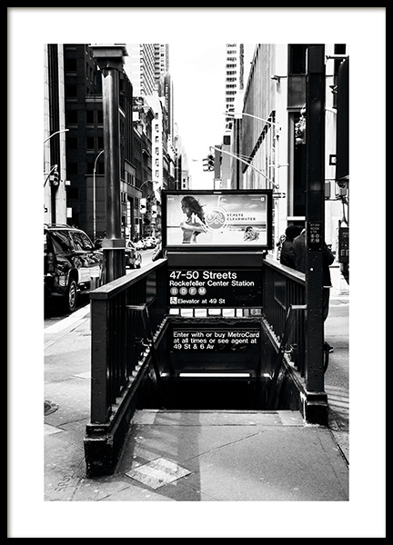 NYC Subway Poster in the group Posters & Prints / Black & white at Desenio AB (11310)
