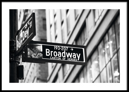 Broadway Sign Poster in the group Posters & Prints / Black & white at Desenio AB (11311)