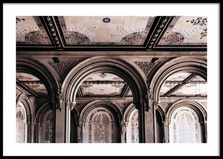 Bethesda Terrace Arcade Poster in the group Posters & Prints / Photography at Desenio AB (11312)