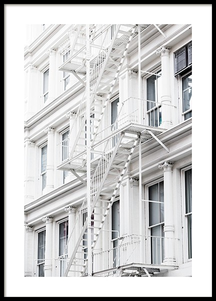 White Fire Escape Poster in the group Posters & Prints / Photography at Desenio AB (11315)