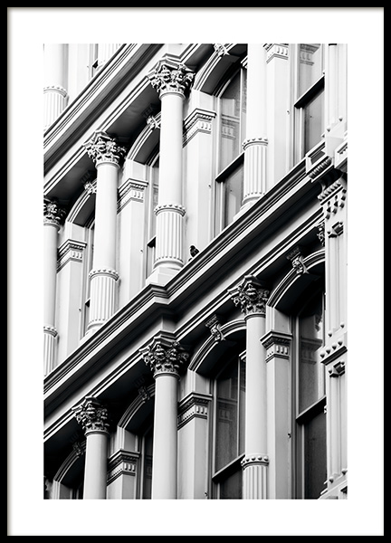 Soho Facade Poster in the group Posters & Prints / Black & white at Desenio AB (11316)