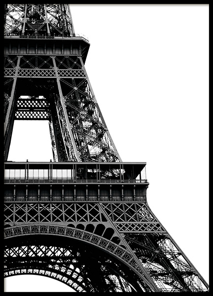 Eiffel Tower Close Up Poster in the group Posters & Prints / Black & white at Desenio AB (11330)