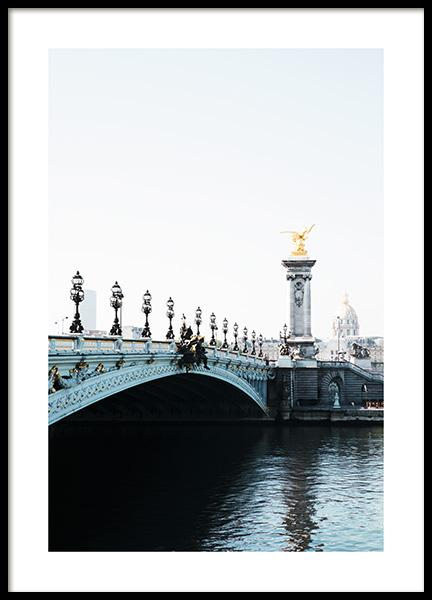 Pont Alexandre III Poster in the group Posters & Prints / Photography at Desenio AB (11336)
