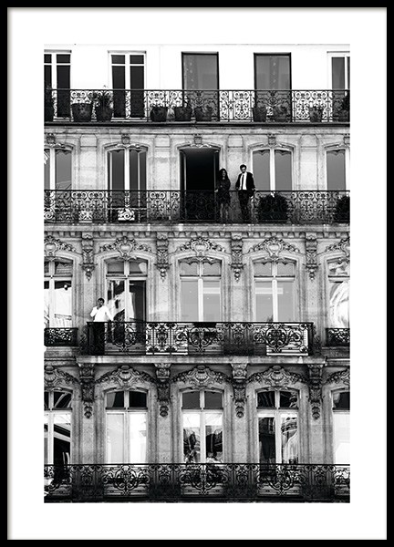 Balconies Poster in the group Posters & Prints / Black & white at Desenio AB (11338)