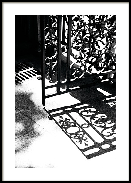 Gate Shadow Poster in the group Posters & Prints / Black & white at Desenio AB (11344)