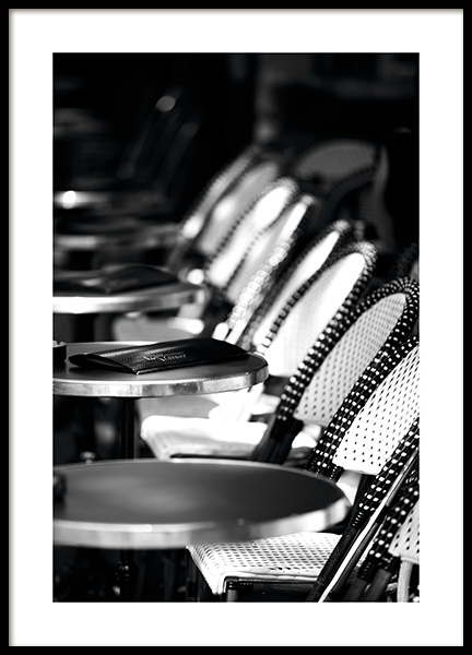 Paris Café Poster in the group Posters & Prints / Black & white at Desenio AB (11346)