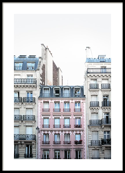 Pink Facade in Paris Poster in the group Posters & Prints / Photography at Desenio AB (11348)