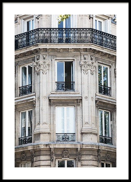 Paris Facade Poster in the group Studio Collections / Studio Cosmopolitan at Desenio AB (11352)