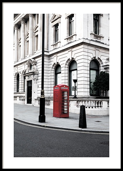 Red Telephone Box Poster in the group Posters & Prints / Photography at Desenio AB (11362)