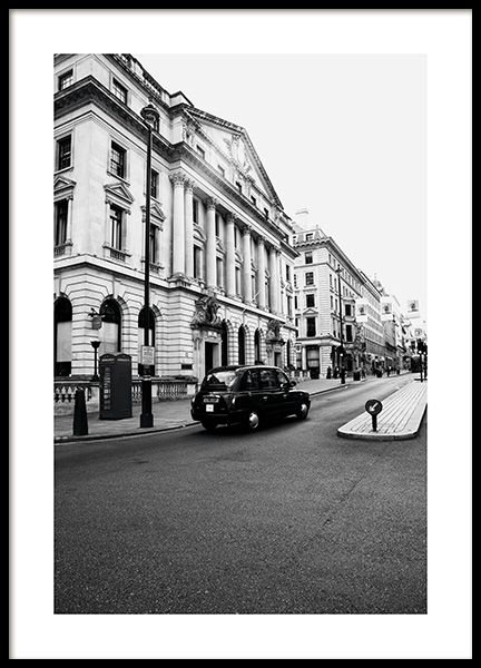 London Taxi Poster in the group Posters & Prints / Black & white at Desenio AB (11363)
