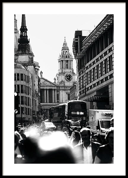 Streets of London Poster in the group Posters & Prints / Black & white at Desenio AB (11365)