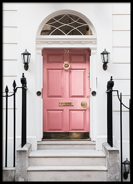London Pink Door Poster in the group Posters & Prints / Photography at Desenio AB (11368)