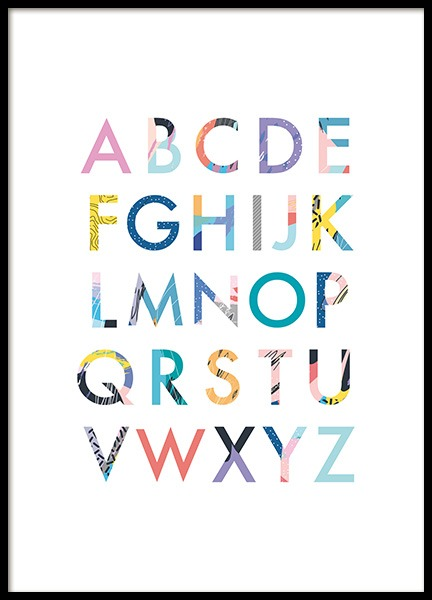 Color Alphabet Poster in the group Posters & Prints / Kids posters at Desenio AB (11380)