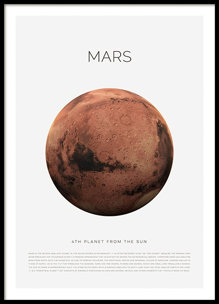 Planet Mars Poster in the group Posters & Prints / Kids posters at Desenio AB (11438)