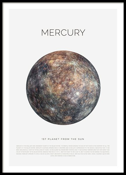 Planet Mercury Poster in the group Posters & Prints / Kids posters at Desenio AB (11439)