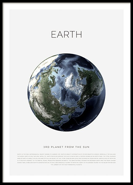 Planet Earth Poster in the group Posters & Prints / Kids posters at Desenio AB (11440)
