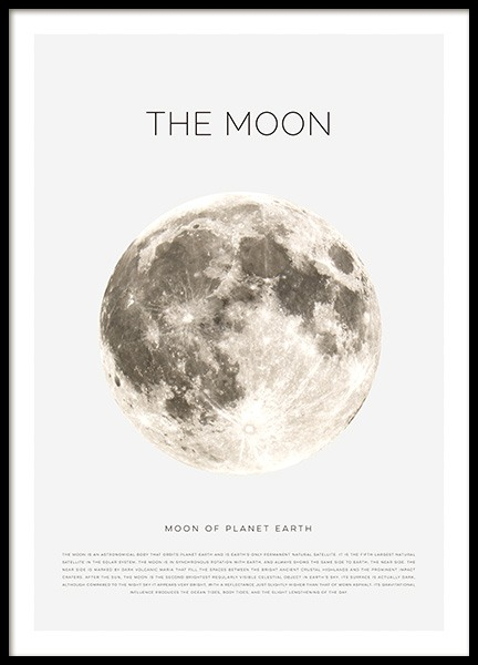 The Moon Poster in the group Posters & Prints / Kids posters at Desenio AB (11441)
