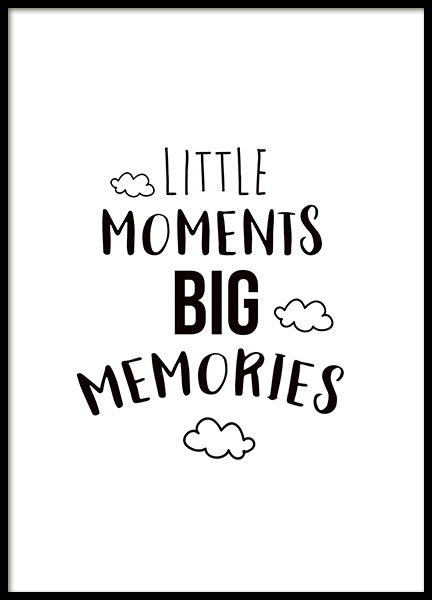 Little Moments Poster in the group Posters & Prints / Kids posters at Desenio AB (11442)