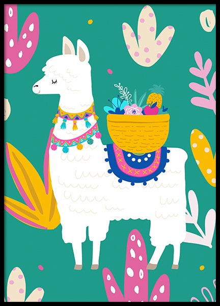 Llama Poster in the group Posters & Prints / Kids posters at Desenio AB (11447)