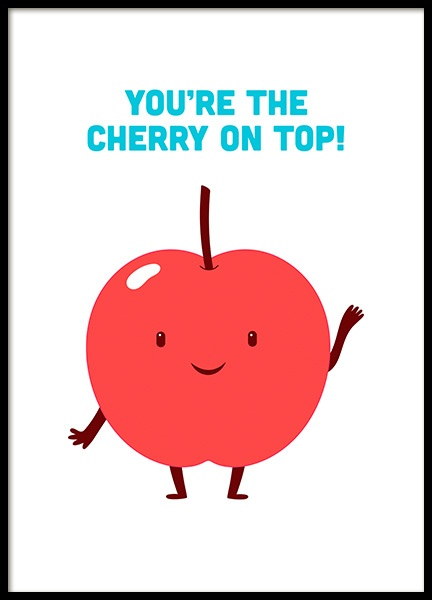 Cherry on Top Poster in the group Posters & Prints / Kids posters at Desenio AB (11451)