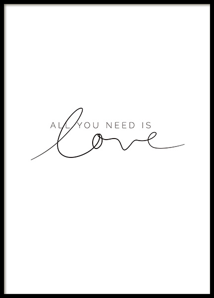 You Need Love Poster in the group Posters & Prints / Typography & quotes at Desenio AB (11466)