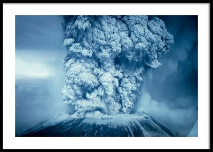 Blue Volcano Poster in the group Posters & Prints / Nature at Desenio AB (11475)