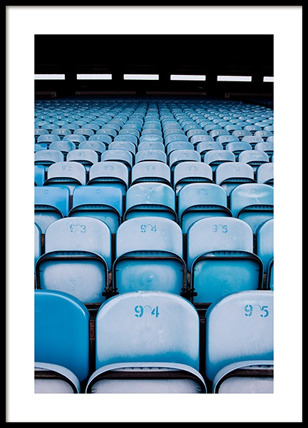 Blue Seats Poster in the group Posters & Prints / Photography at Desenio AB (11478)