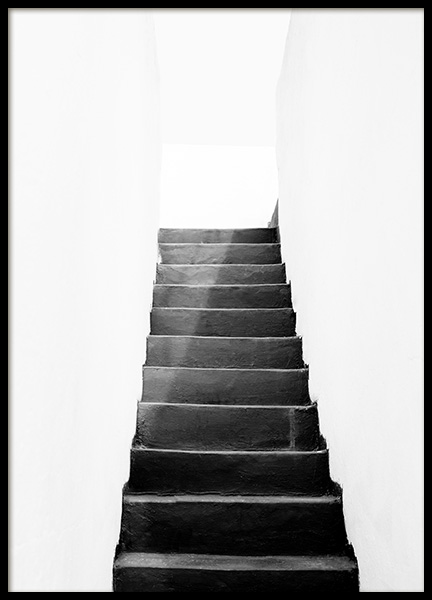 Black and White Stairs Poster in the group Posters & Prints / Black & white at Desenio AB (11484)