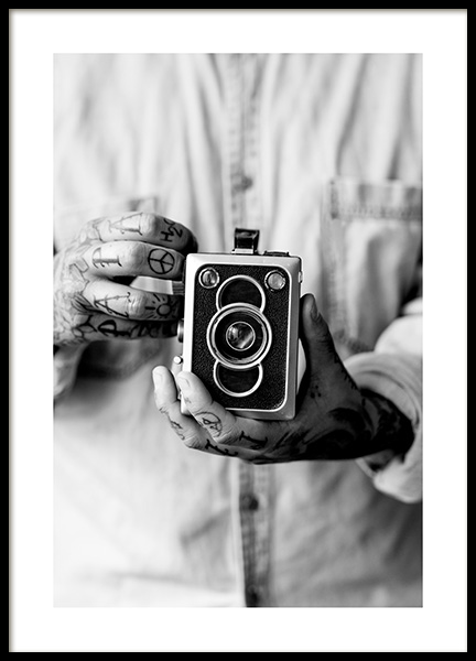 Vintage Camera Poster in the group Posters & Prints / Sizes / 50x70cm | 20x28 at Desenio AB (11490)