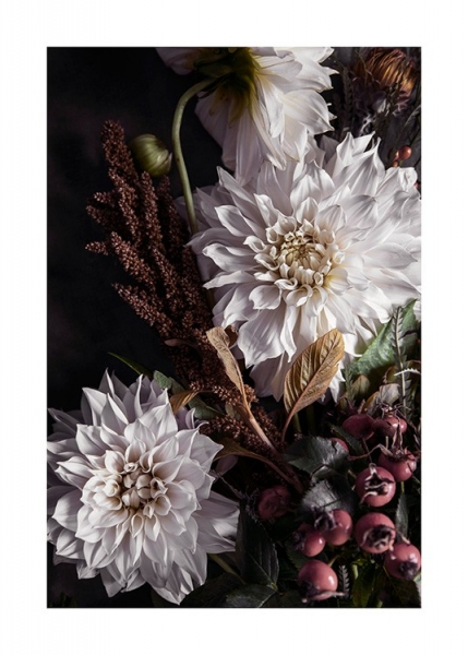 Autumn Dahlias Poster in the group Posters & Prints / Botanical at Desenio AB (11506)