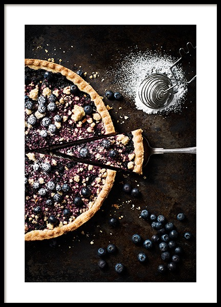 Blueberry Pie Poster in the group Posters & Prints / Kitchen at Desenio AB (11517)