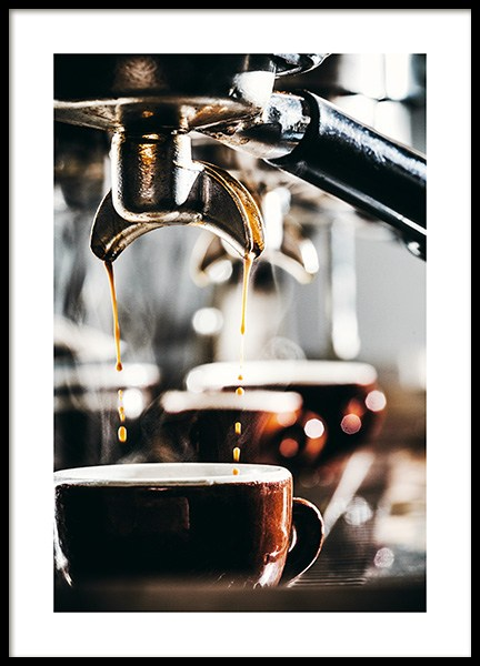 Espresso Drops Poster in the group Posters & Prints / Kitchen at Desenio AB (11518)