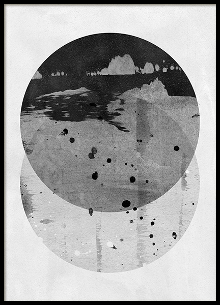 Circles in Two Poster in the group Posters & Prints / Black & white at Desenio AB (11537)