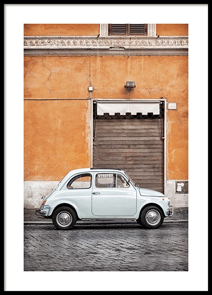 Vintage Car in Rome Poster in the group Posters & Prints / Photography at Desenio AB (11574)